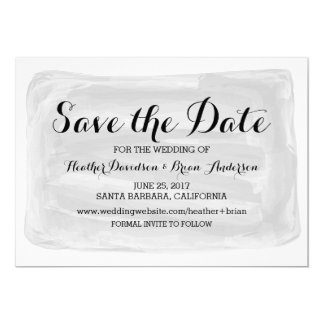 Gray Watercolor Save the Date Invite