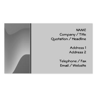 Gray Wave Abstract. Business Card Templates