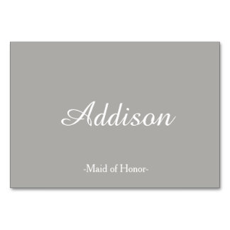 Gray Wedding Place Cards Table Card