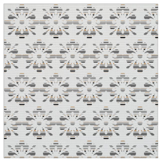 Gray, white, beige decorative floral pattern fabric