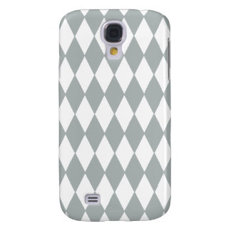 Gray White Harlequin Pattern Galaxy S4 Case