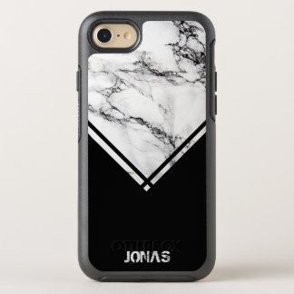 Gray & White Marble And Black Stripes OtterBox Symmetry iPhone 8/7 Case