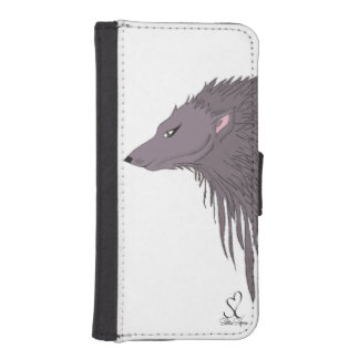 Gray Wolf Sketch iPhone SE/5/5s Wallet Case
