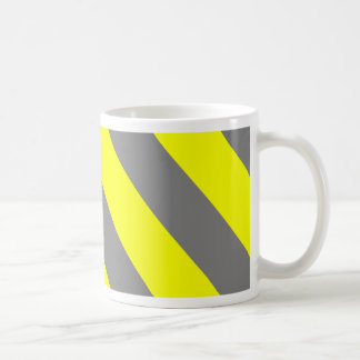 Gray Yellow Attention Warning Stripes Coffee Mug