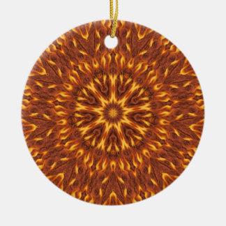 Great Balls Of Fire Round Ceramic Decoration