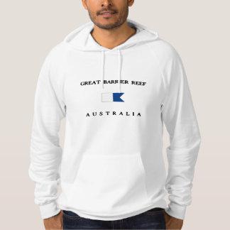 Great Barrier Reef Australia Alpha Dive Flag Hoodie