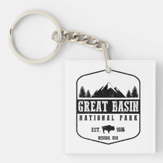 Great Basin National Park Double-Sided Square Acrylic Key Ring