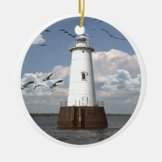 Great Beds Lighthouse Christmas Ornament