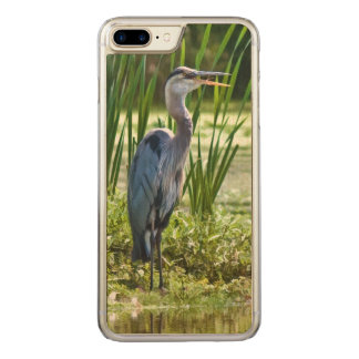 Great Blue Heron Bird at the Pond Carved iPhone 7 Plus Case