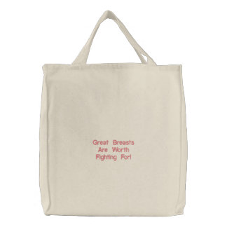 Great Breasts Are Worth Fighting For! Canvas Bags