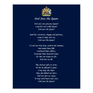 Great Britain Anthem Poster (God Save the Queen)