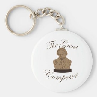 Great Composer Basic Round Button Key Ring