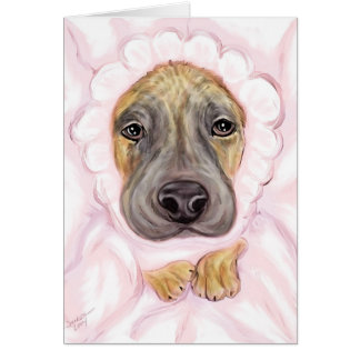 Great Dane Baby Brindle Girl Announcements