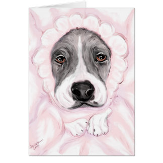 Great Dane Baby Mantle Girl Announcements