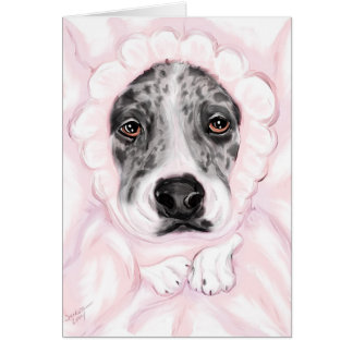 Great Dane Baby Mantled Merle Girl Announcements