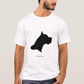 Great Dane - black Silhouette T-Shirt
