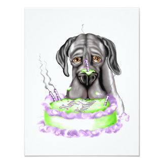Great Dane Black UC Birthday Cake Card