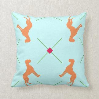 Great Dane checkered Throw Pillow