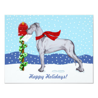 Great Dane Christmas Mail Blue UC Card