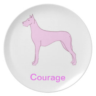 Great Dane Courage Cancer Awareness Plate