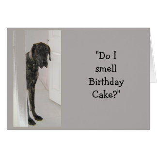 Great Dane Dog Humor FATHER-in-Law Birthday Cake Greeting Card