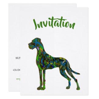 Great Dane Jungle Invitation