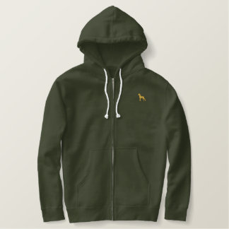 Great dane logo embroidered hoodie