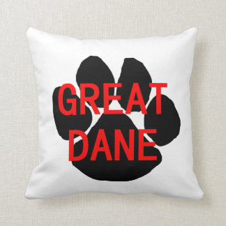 great dane name paw cushion