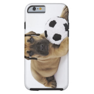 Great Dane puppy with toy soccer ball Tough iPhone 6 Case
