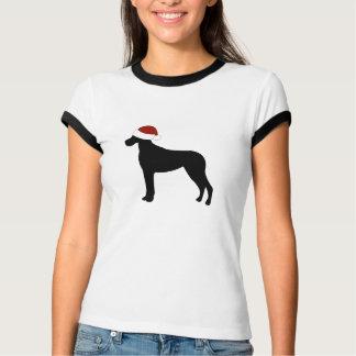 Great Dane Santa Hat T-Shirt