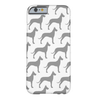 Great Dane Silhouettes Pattern Barely There iPhone 6 Case