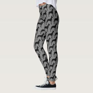 Great Dane Silhouettes Pattern Leggings