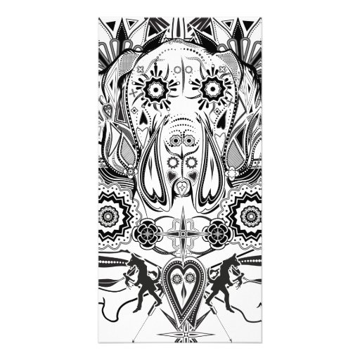 great dane tattoo personalised photo card zazzle. Black Bedroom Furniture Sets. Home Design Ideas