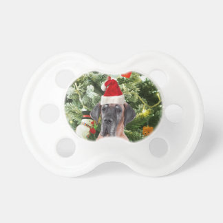 Great Dane w Christmas Tree Gift Boxes Santa Hat Dummy