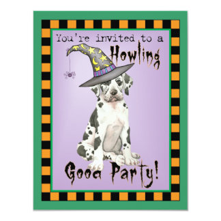 Great Dane Witch Card