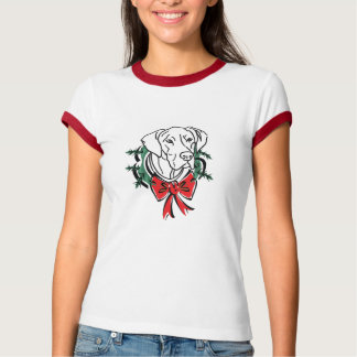 Great Dane with Christmas Wreath T-Shirt