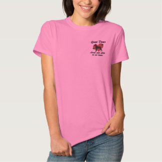 Great Danes Leave Paw Prints Embroidered Shirt