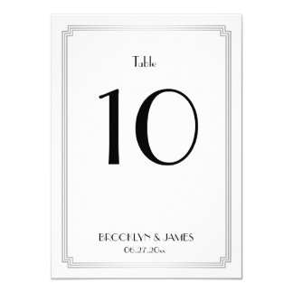 Great Gatsby Art Deco Silver Table Numbers