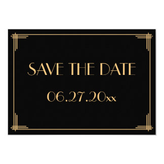 Save the Dates > Save-the-Date: Great Gatsby (Metallic)