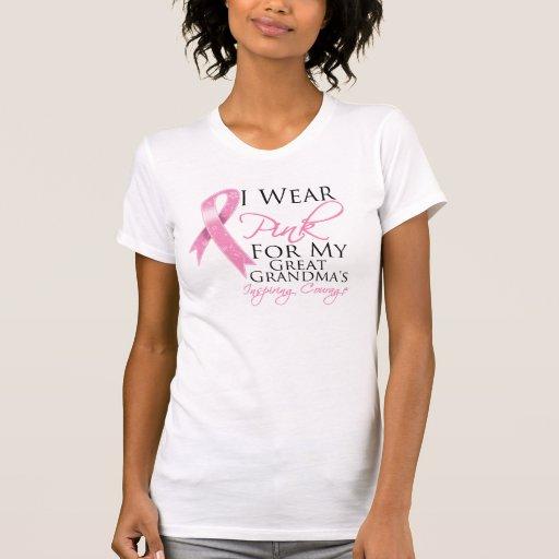 Great-Grandma Inspiring Courage Breast Cancer Shirts