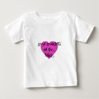 Great Grandma of the Bride Baby T-Shirt
