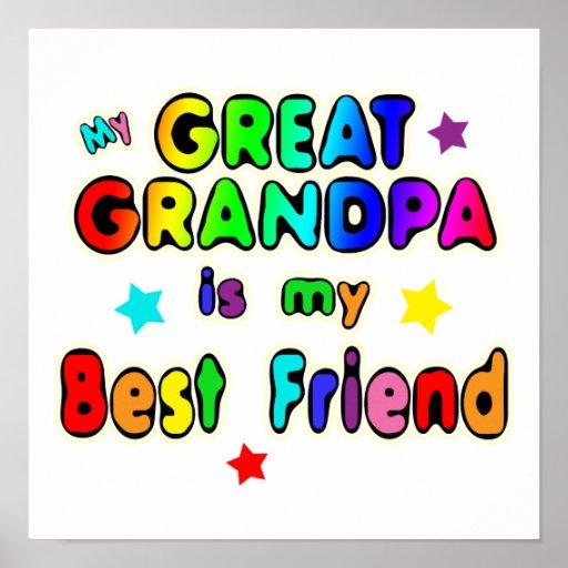 Great Grandpa Best Friend Print