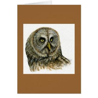 """""""Great Grey Owl"""" Card"""