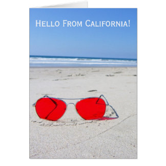 Great Hello From California Greeting Card! Greeting Card