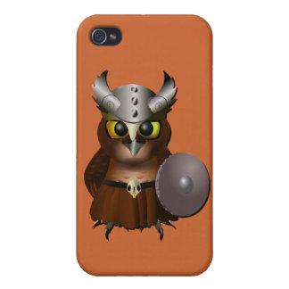 """""""Great Horned Owl"""" Viking Helmet Owl iPhone 4/4S Cover"""