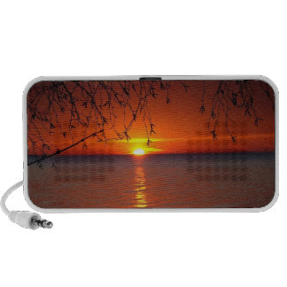 Great Lakes Sunset Doodle Speakers