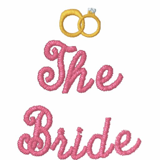 Great Looking The Bride T shirt with Rings