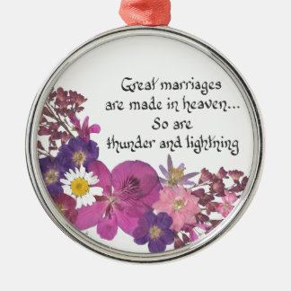 Great marriages are made in heaven! christmas ornament