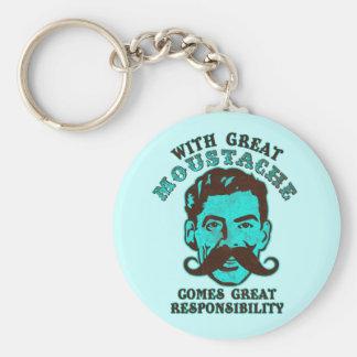 Great Moustache Key Ring