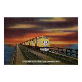 Great Salt Lake Railroad Cutoff Posters